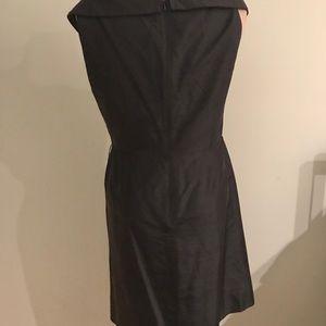 Talbots Dresses - Pure Silk Black Cocktail Dress 14P Portrait Collar
